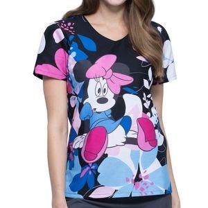 Minnie Mouse Oops a Daisy Scrub Top Sz XS-XXL NWT
